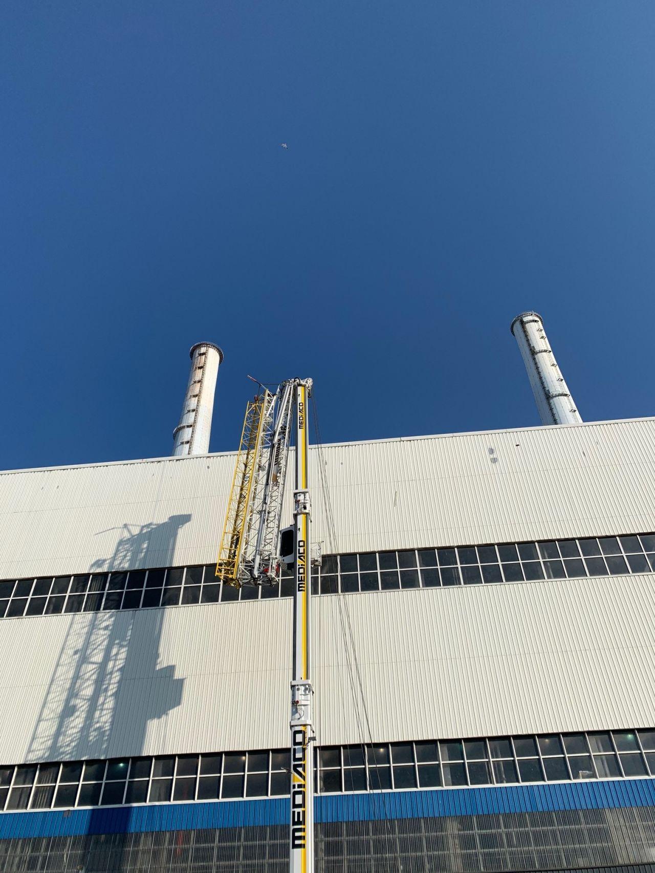 Centrale thermique EDF - Grutage - Toiture - Dufour, Le Havre