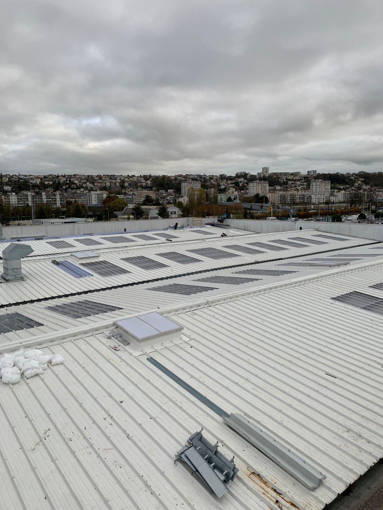 PSA Le Havre - Couverture Bac Acier