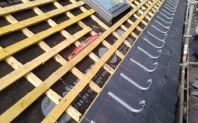 Réfection toiture en ardoise