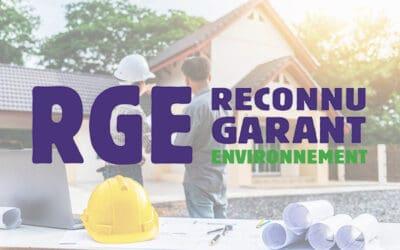 RGE – Reconnu Garant de l'Environnement
