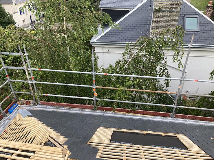 Chantier de particulier - Création velux et Refection toiture - Dufour, couverture et plomberie Le Havre